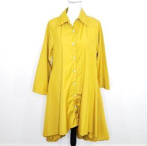 Step in Style Asymmetrical Shirt Dress Size M